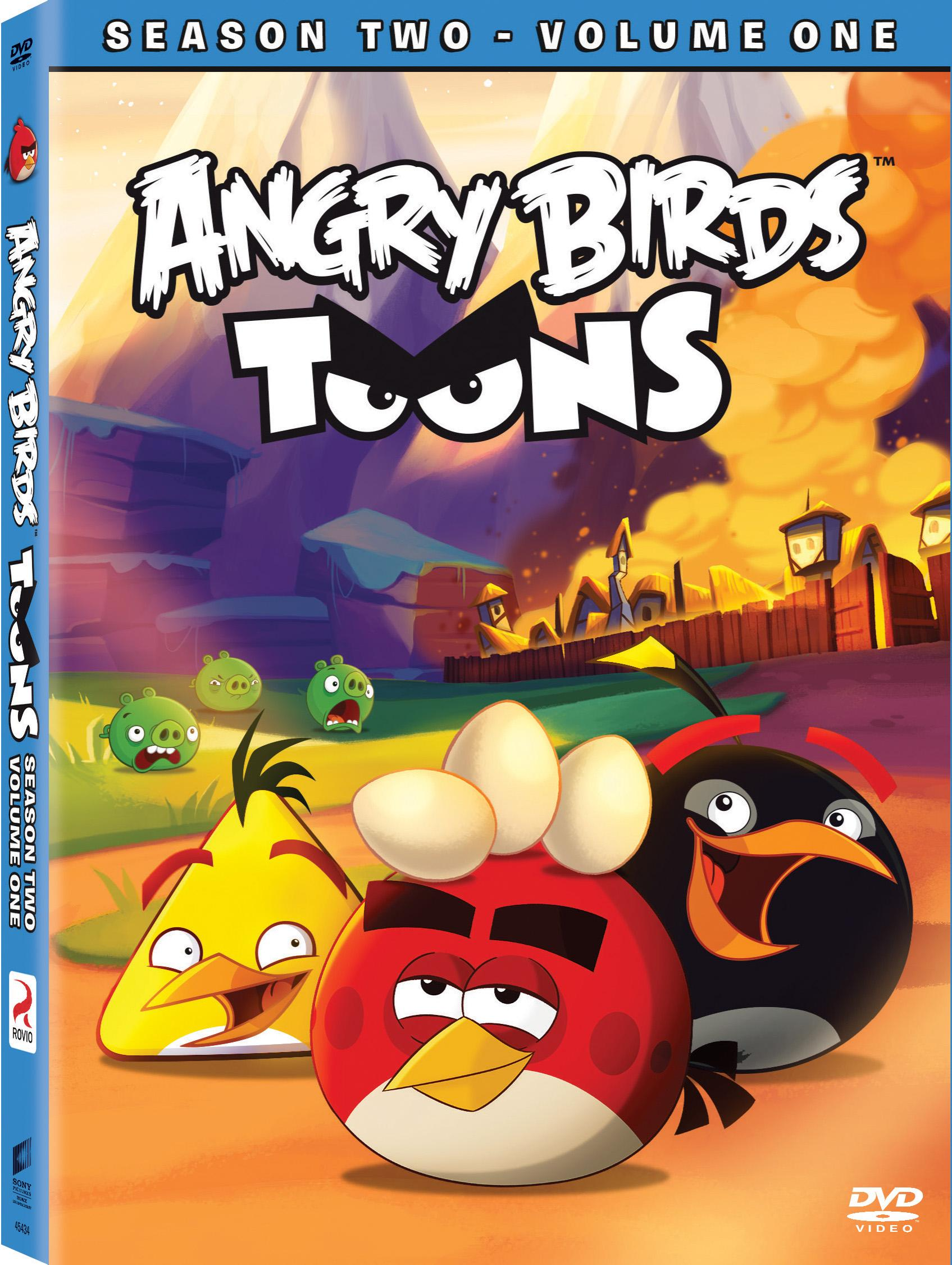 Angry Birds Toons Season 2 Volume 1 Dvd Cover Screen Connections